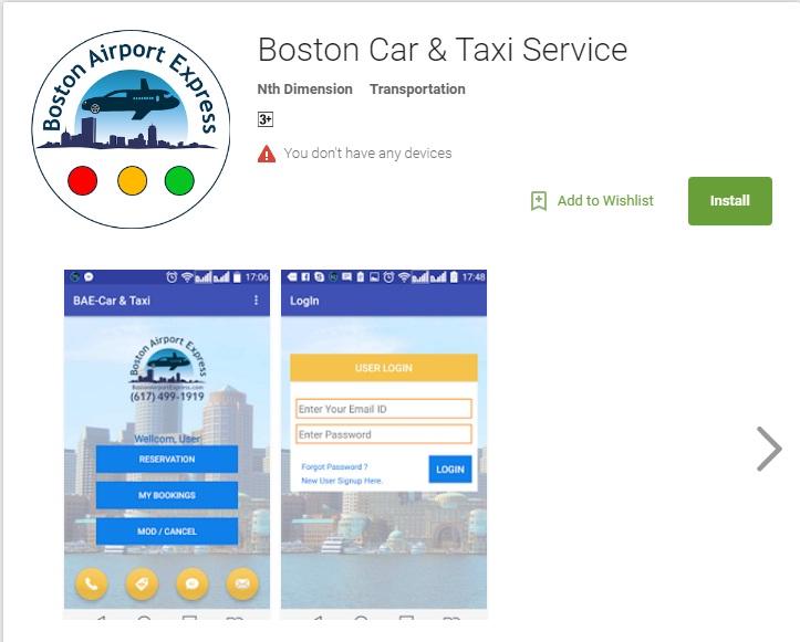 Boston Car & Taxi Service app